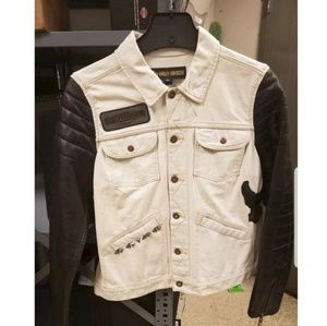 Harley Davidson Denim and Leather Jacket- Small